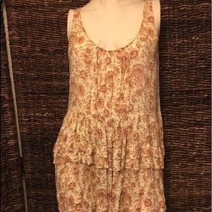 Free People Intimately Tunic Top Paisley Ruffles